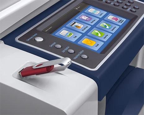 closeup of copier