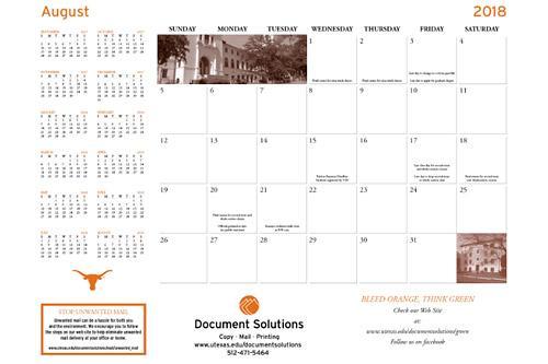 desktop calendar example available for order