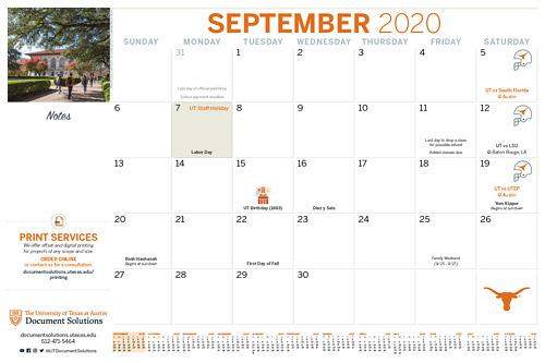 Picture of 2020-2021 Desk Calendar available for purchase