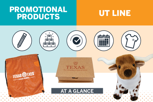 Promotional Products or UT Line graphic