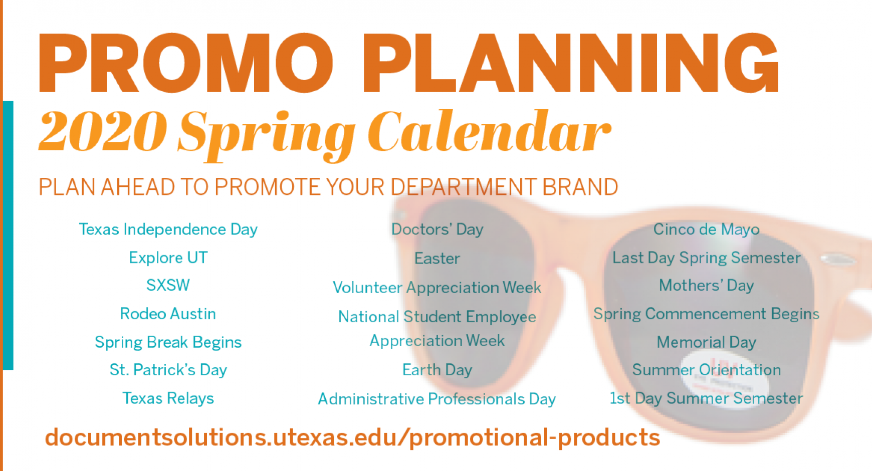2020 Spring Calendar for Promotional Product Planning | Document