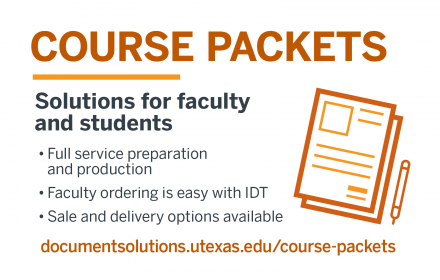 Course Packet order and delivery options from Document Solutions